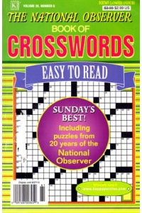 National Observer Book Of Crosswords Magazine
