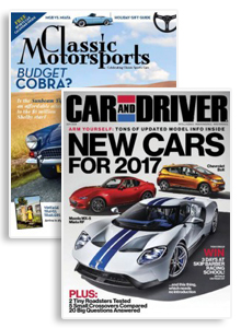Car And Driver & Classic Motorsports Combo Magazine