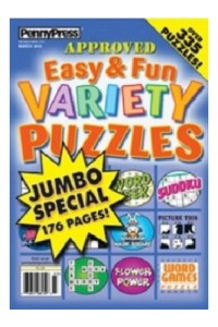 Easy & Fun Variety Puzzles Magazine