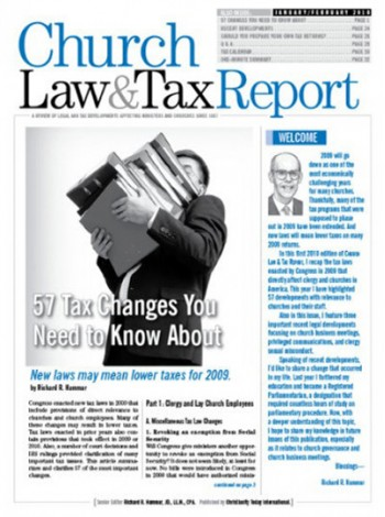 Church Law & Tax Report Magazine Subscription