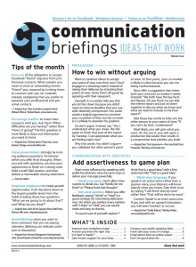Communication Briefings Magazine