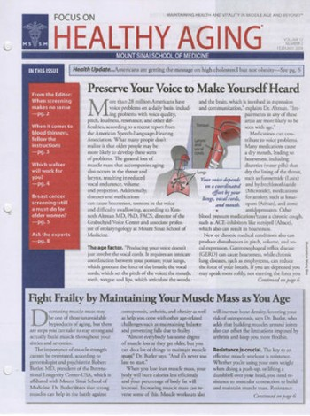 Focus On Healthy Aging Magazine Subscription