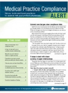 Medical Practice Compliance Alert Magazine Subscription