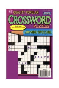 Quality Popular Crossword Puzzles Jumbo Magazine