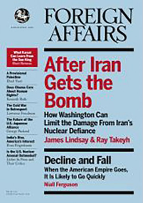 Foreign Affairs Magazine Subscription: $50.00