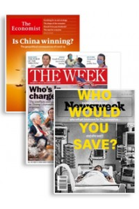 The Economist, The Week & Newsweek Bundle Magazine