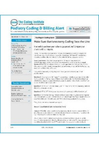 Podiatry Coding Alert Magazine