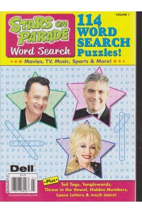Stars On Parade Word Search Magazine