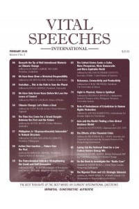Vital Speeches International Magazine